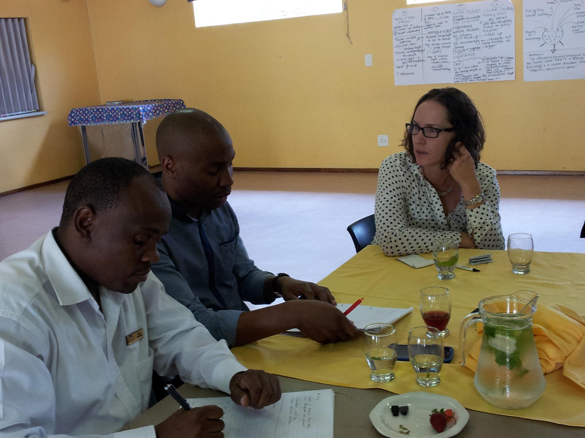 Joanna working with Vuleka staff