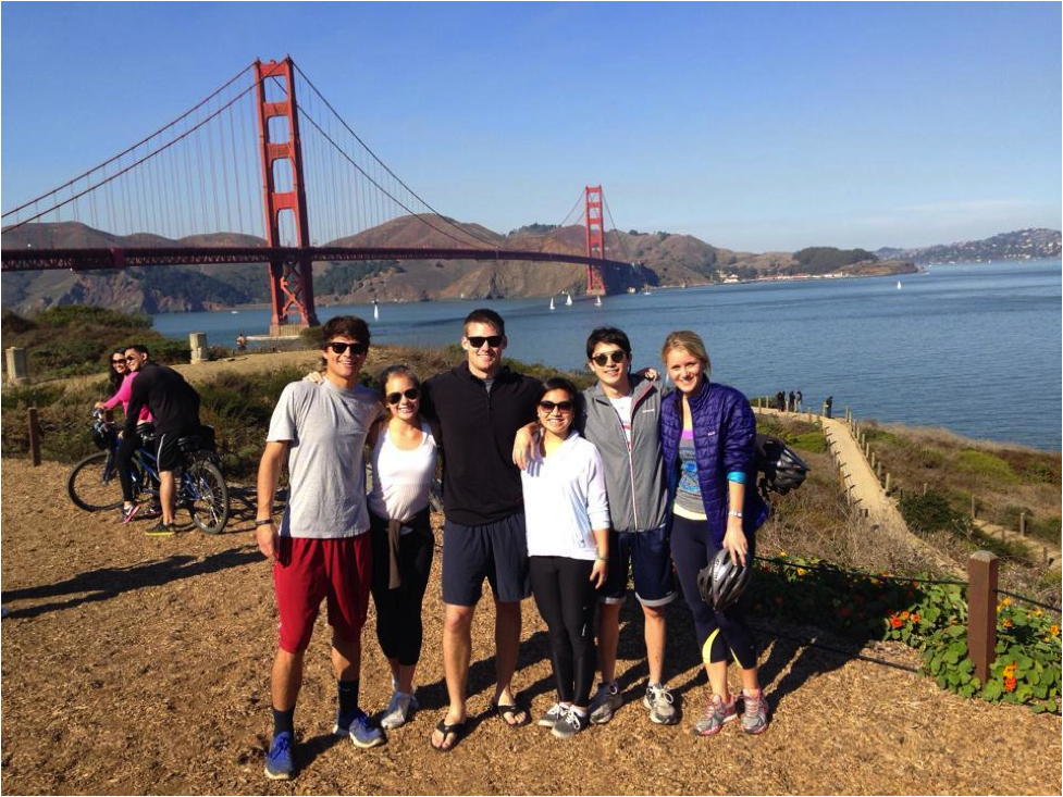 Jake Cerf and friends in San Francisco