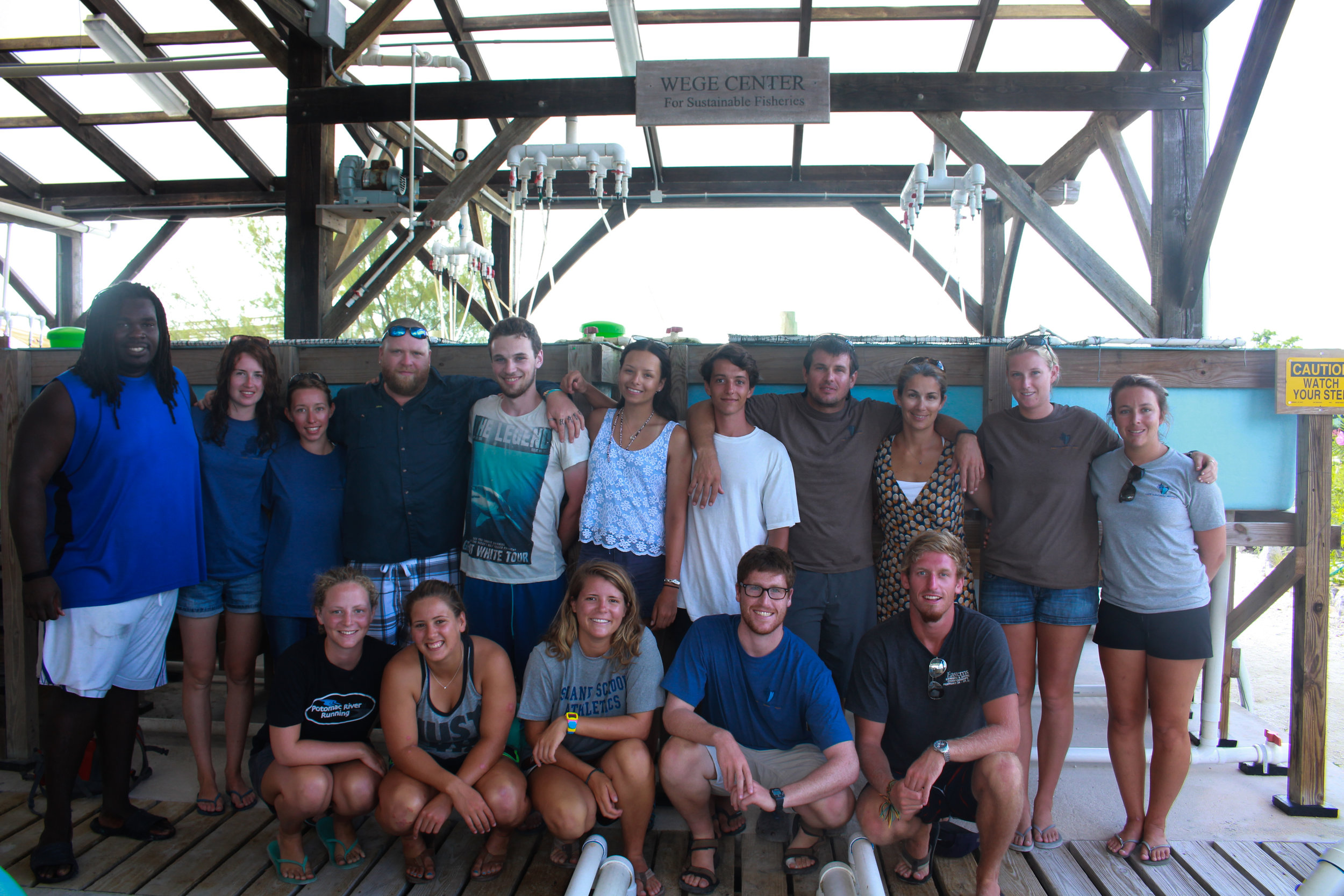 Cape Eleuthera Institute research team gathers at the Wege Center for Sustainable Fisheries to celebrate the life of Peter Wege and give thanks for his generous support.