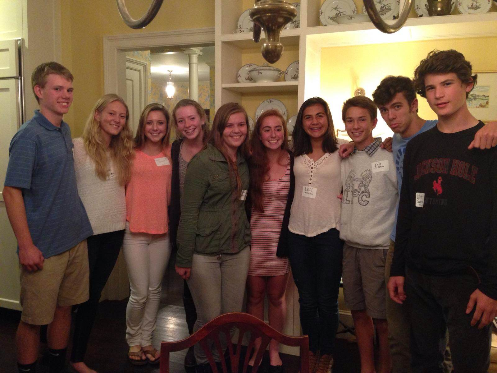 Ten students from the Boston area who are headed to Eleuthera for the Spring 2015 semester gathered at the Boston reception.