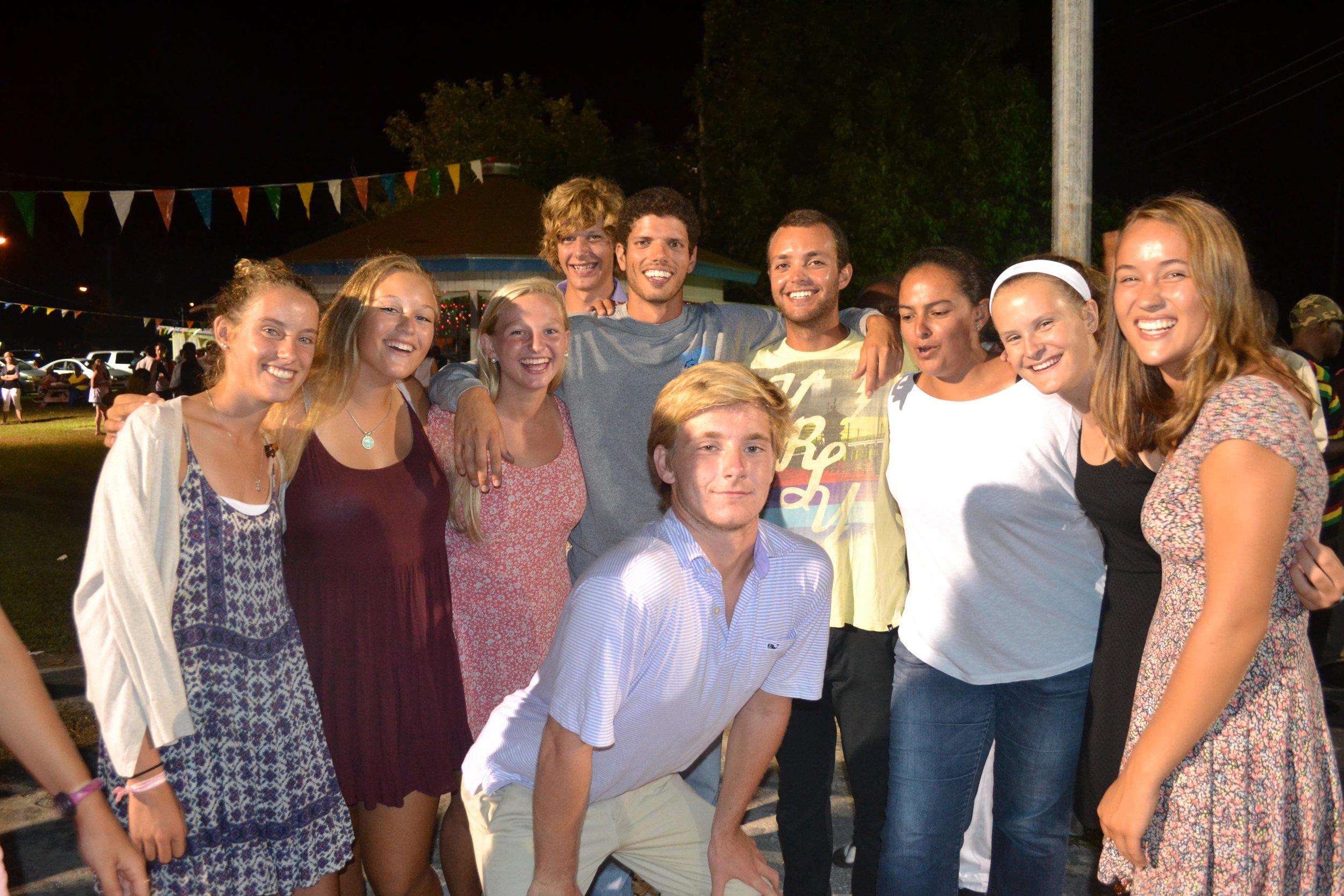 Students at Weymss Bight Homecoming.