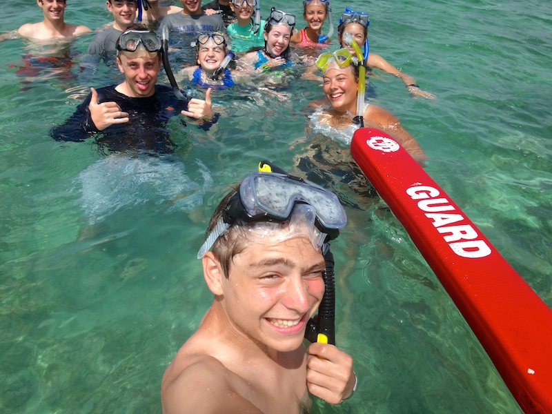Cacique Fotis capturing a fun moment exploring South Eleuthera after the morning Run-Swim!