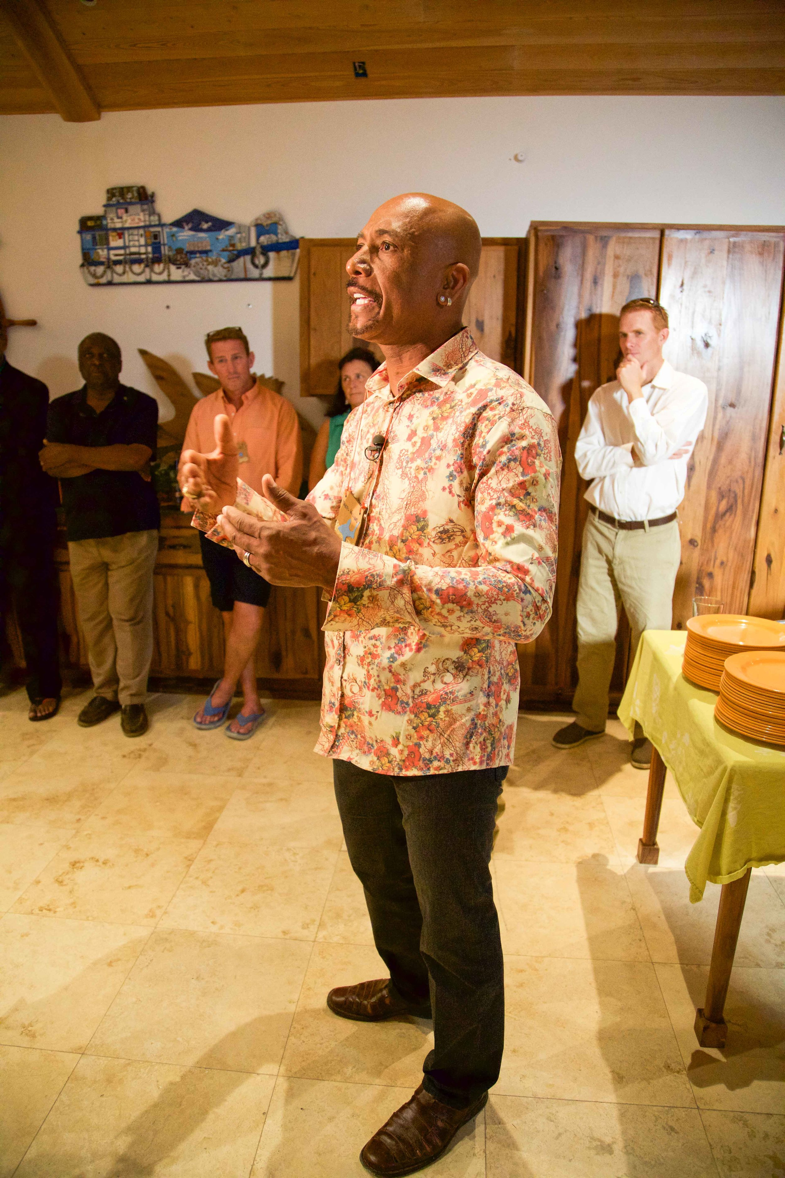 Montel Williams fires up the delegation with inspiration at the kickoff event