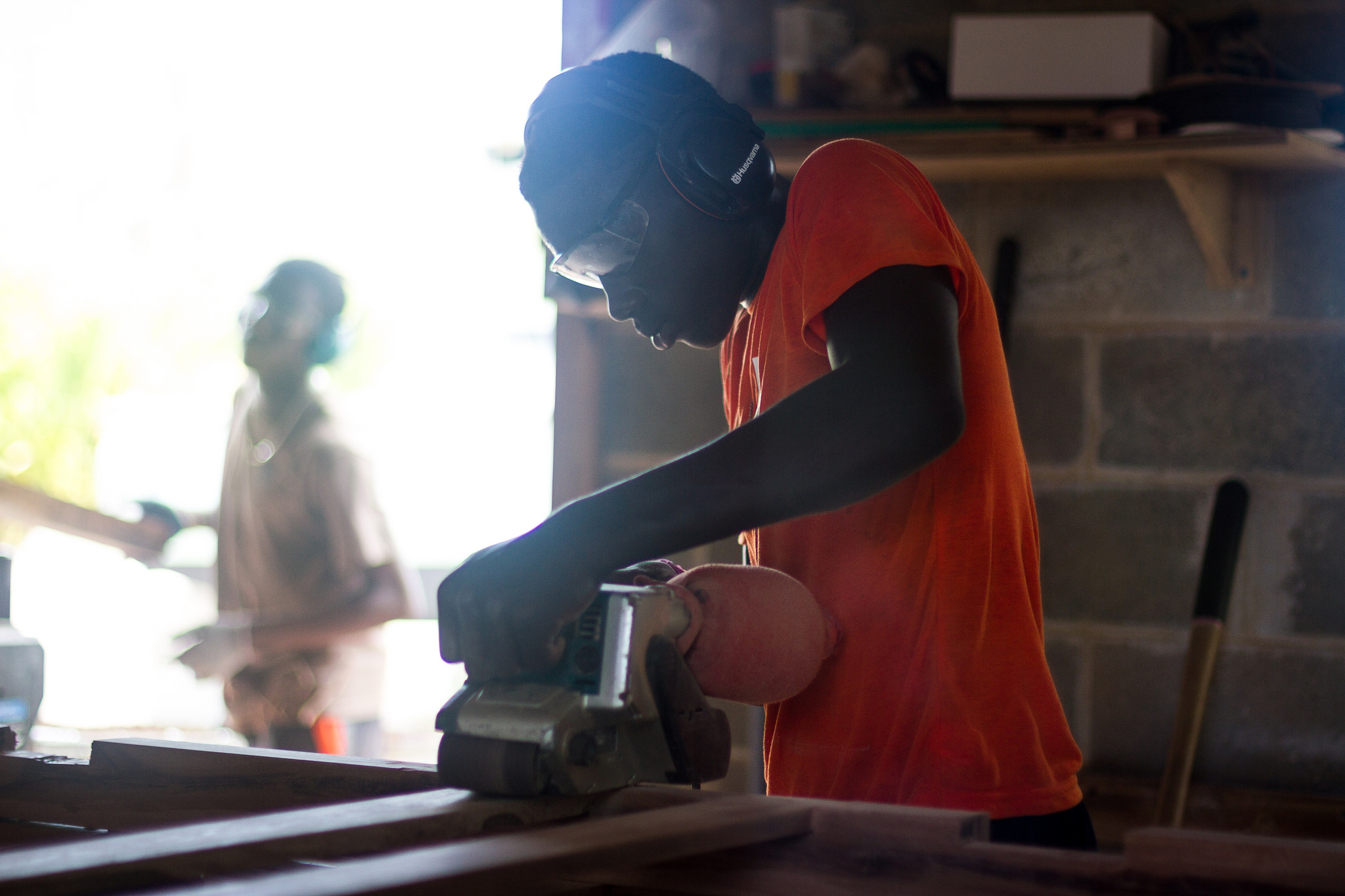 The woodshop is part of the Center for Sustainable Development, which is one of the locations on campus where participants are mentored.