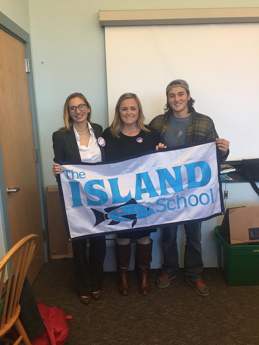Thetford Academy: Clara Hoffman (F '15), Taylor, and Kia O'Connor (F'15)