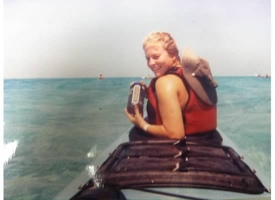 Mary Assini during her 8-day kayak expedition in Spring 2000.