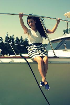 skirt forever 21 cute outfit nautical
