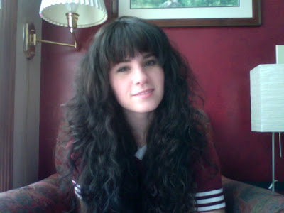 cute bangs curly hair cut
