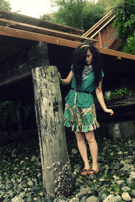 green style fashion cute dress