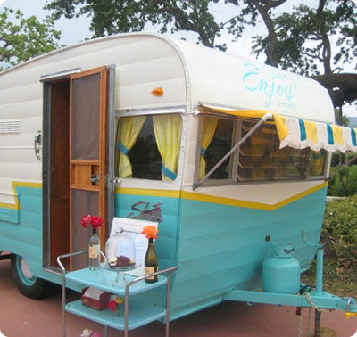 cupcake trailer camper cute