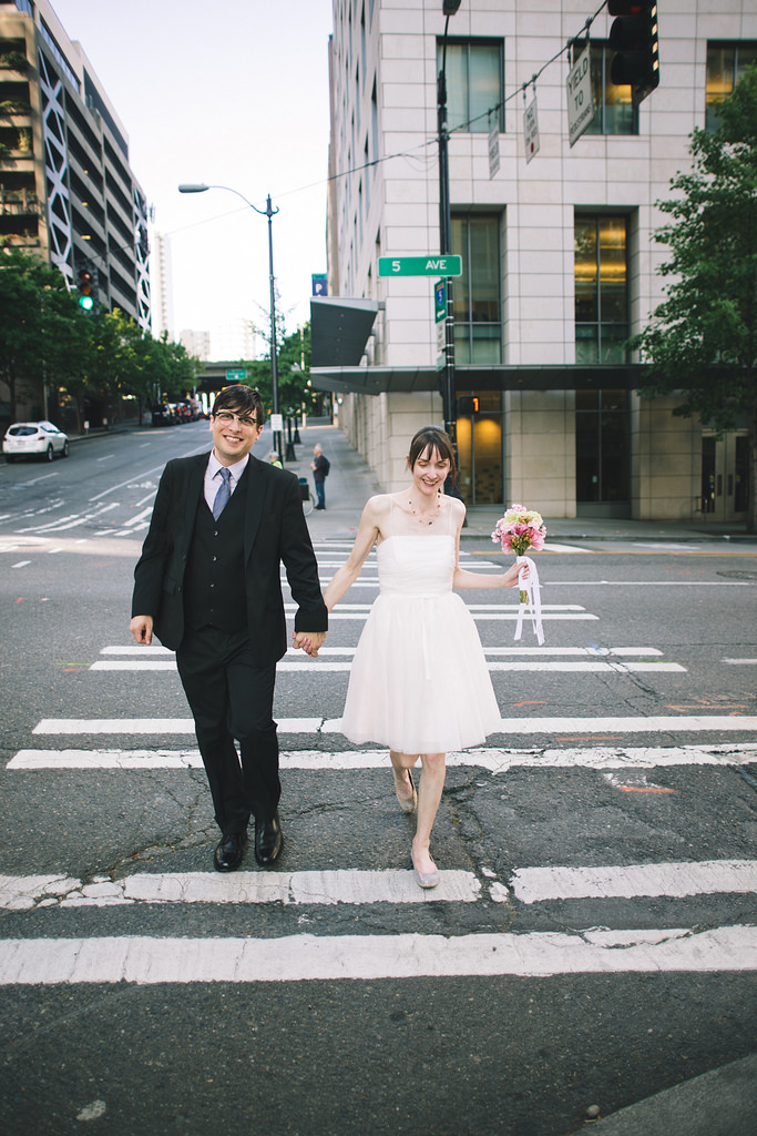 Seattle city hall elopement, Seattle Elopement, Liz Morrow Studios