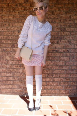 cute outfit style blog pink sweater