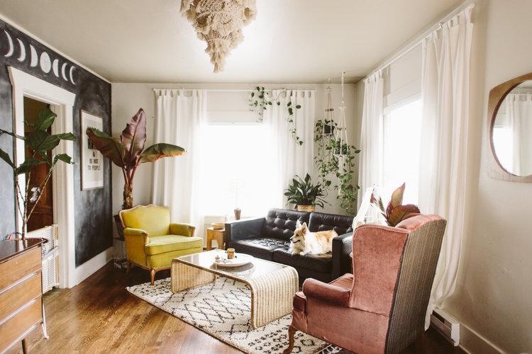 boho eclectic living room liz morrow