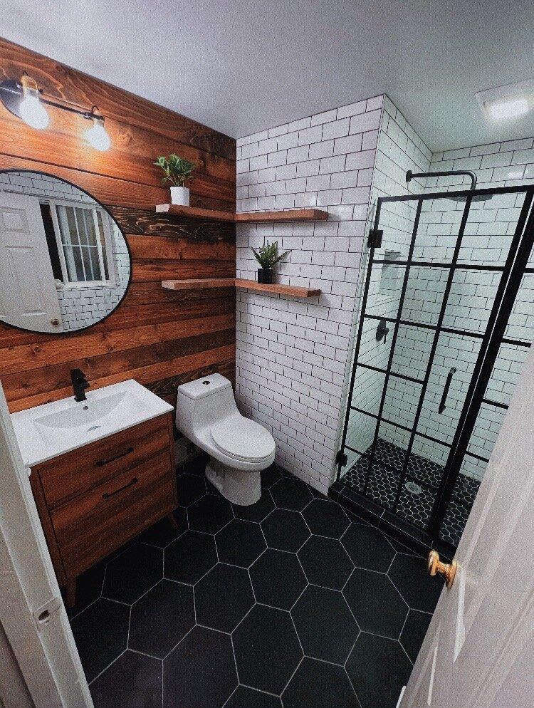 Rustic Industrial Bathroom Design Liz Morrow