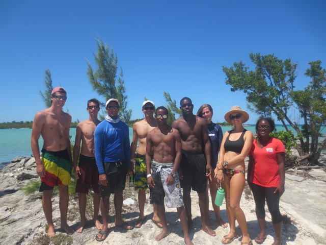 A group shot of the Abaco Flats Week team.
