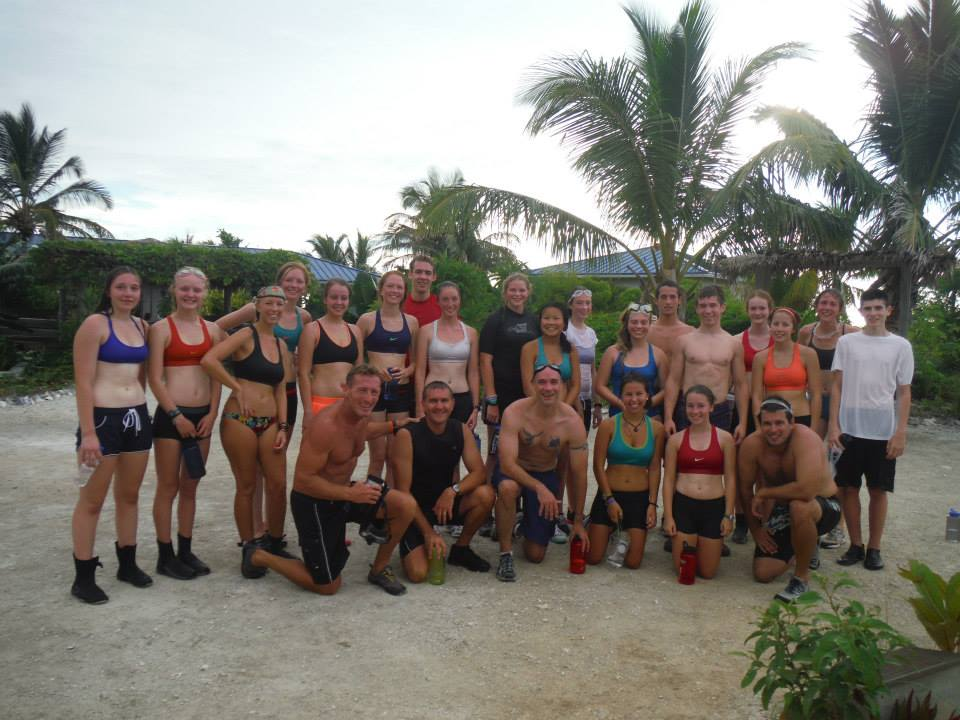 The team after a Maxey run-swim
