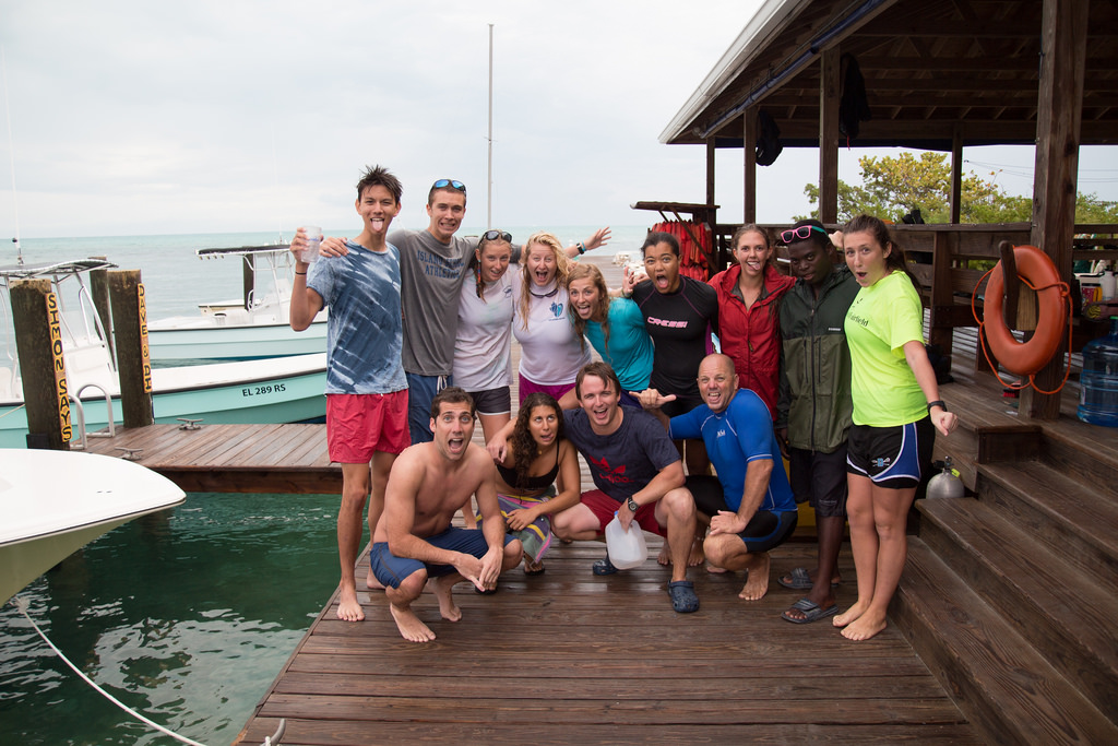 Gap Year students after completing their annual triathalon