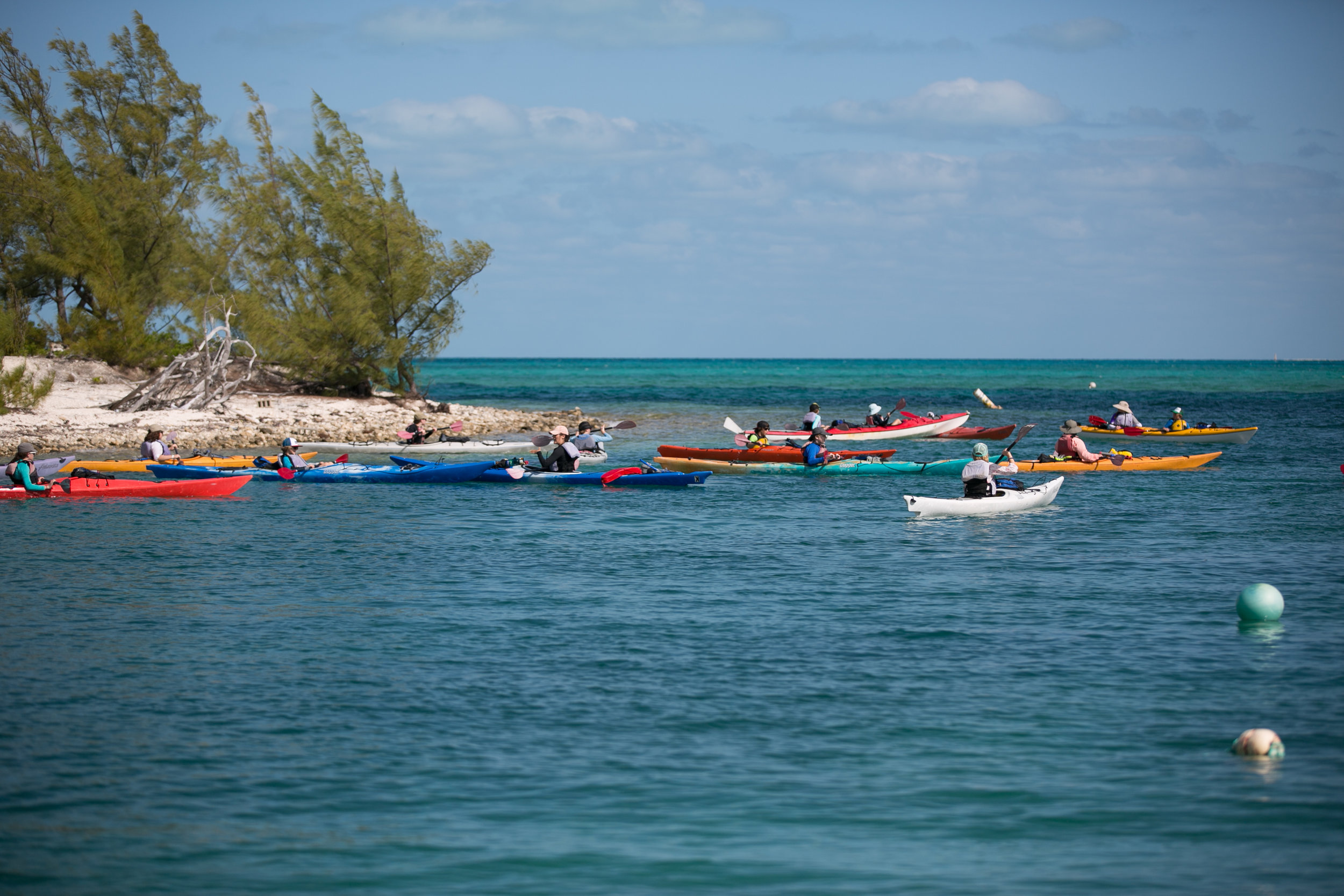 Students going out for an afternoon kayak adventure
