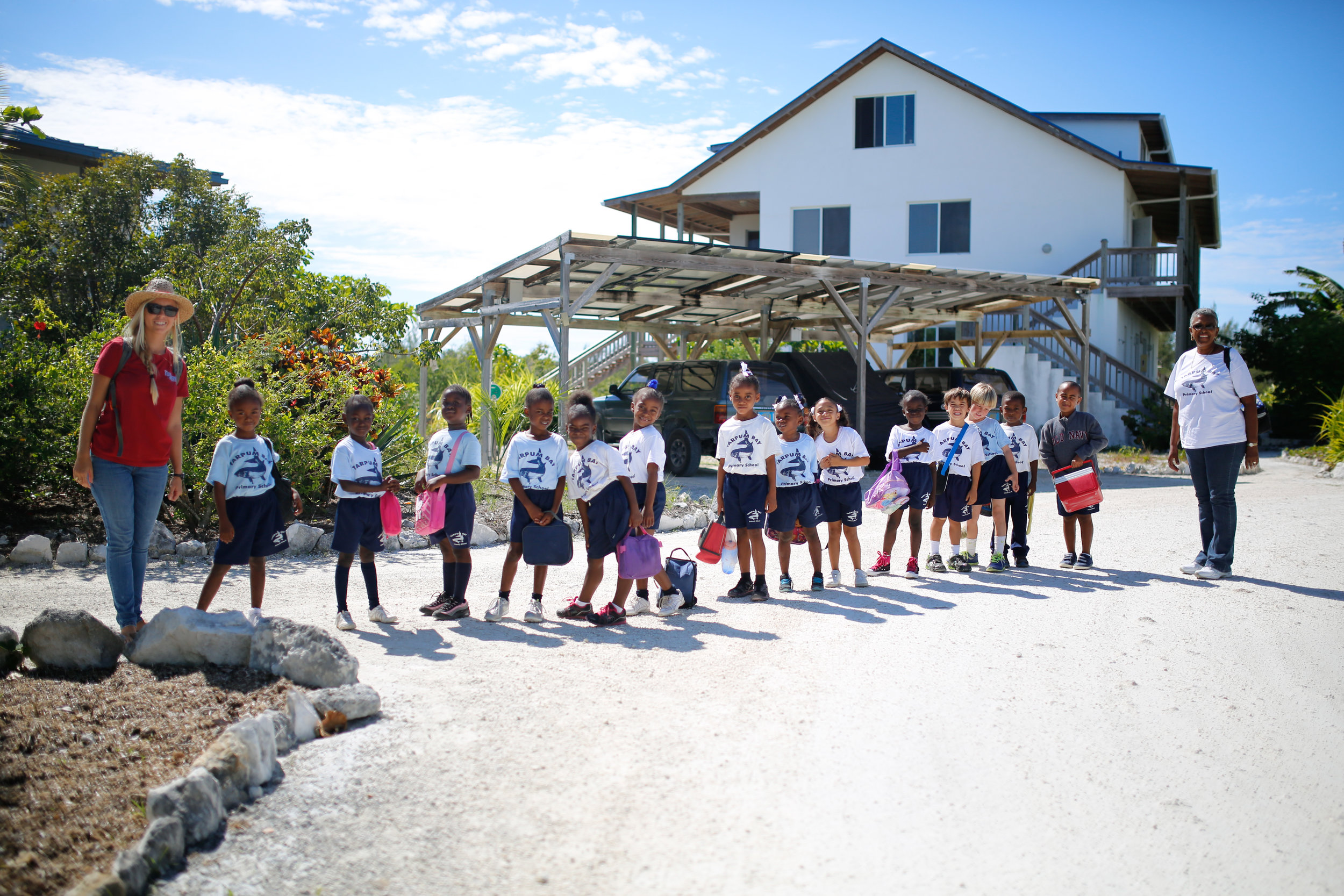 Tarpum Bay Primary Grade 1 Students arrive at The Island School