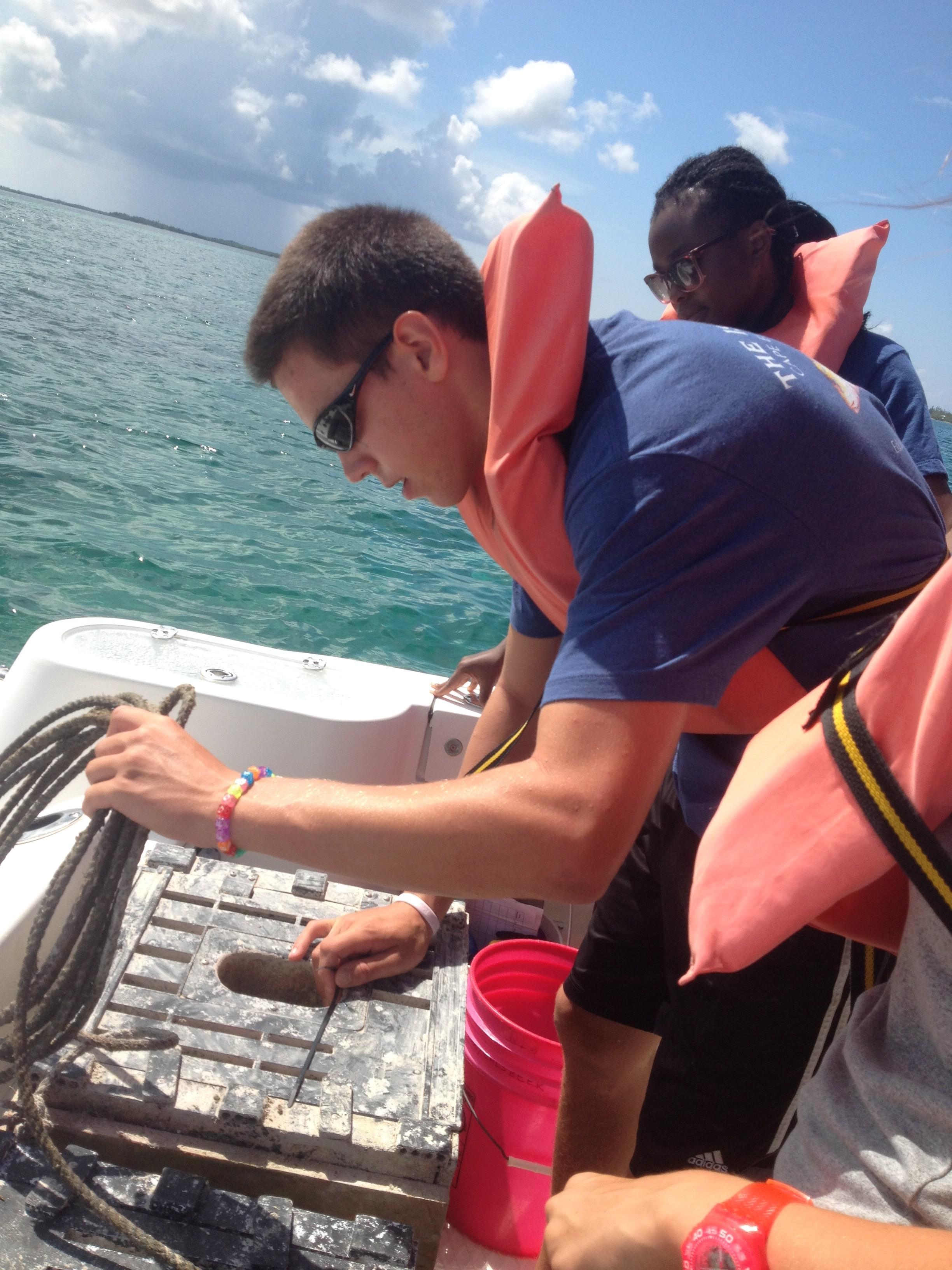 Christian Anderson stone crab trap