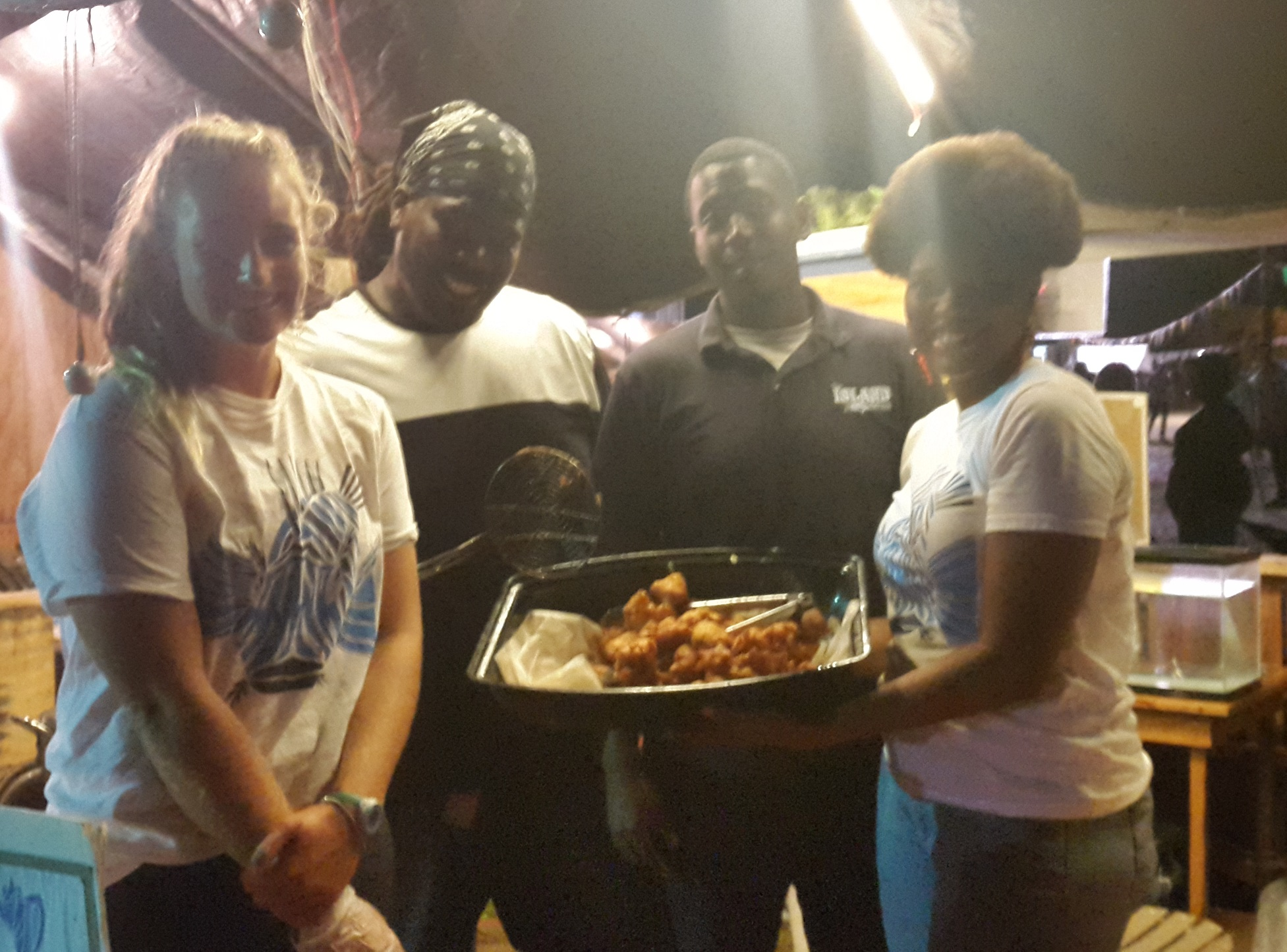 The CEI Sustainable Fisheries team serving up lionfish fritters