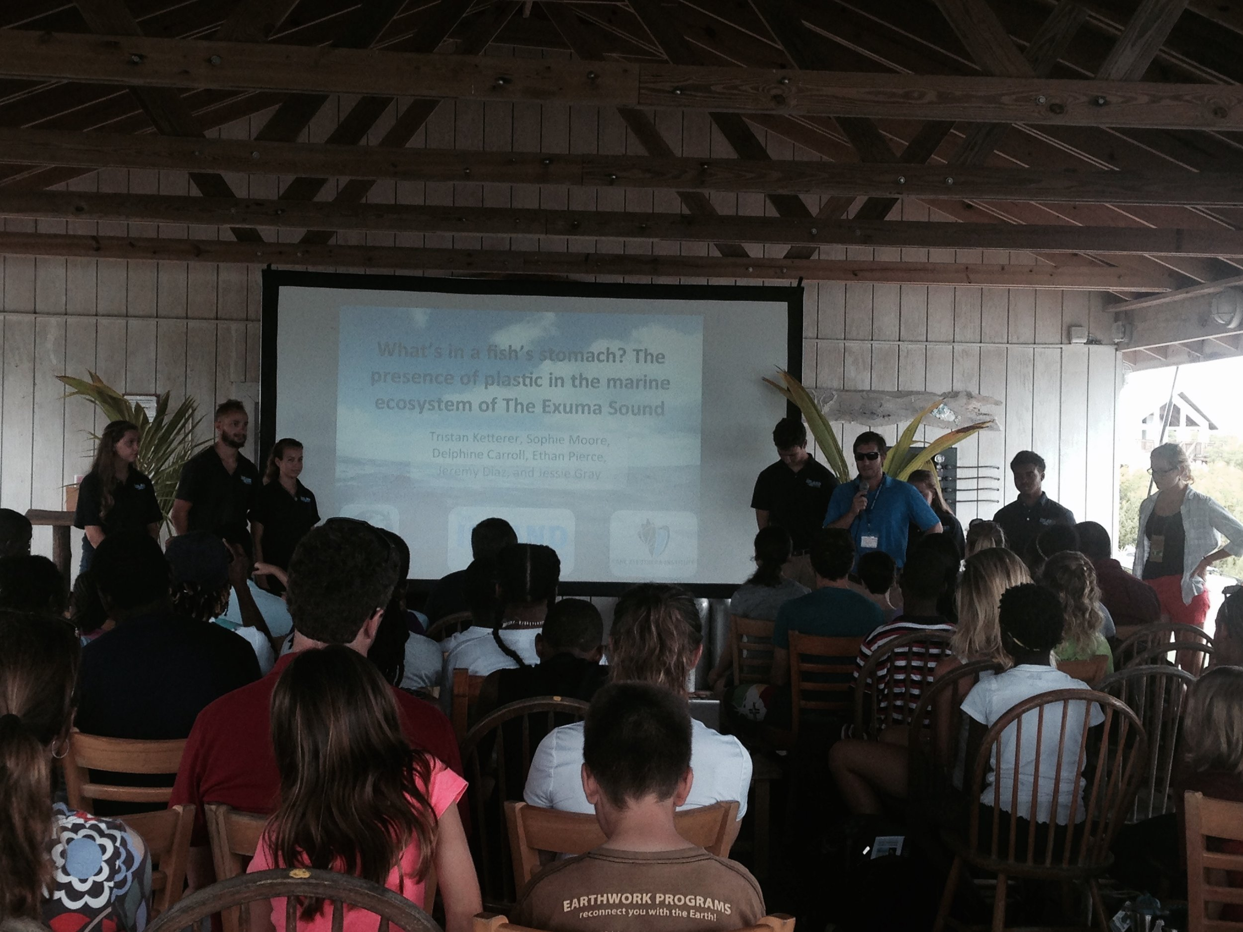 The Spring 2015 Plastics Research Group presents to the Youth Action Island Summit attendees