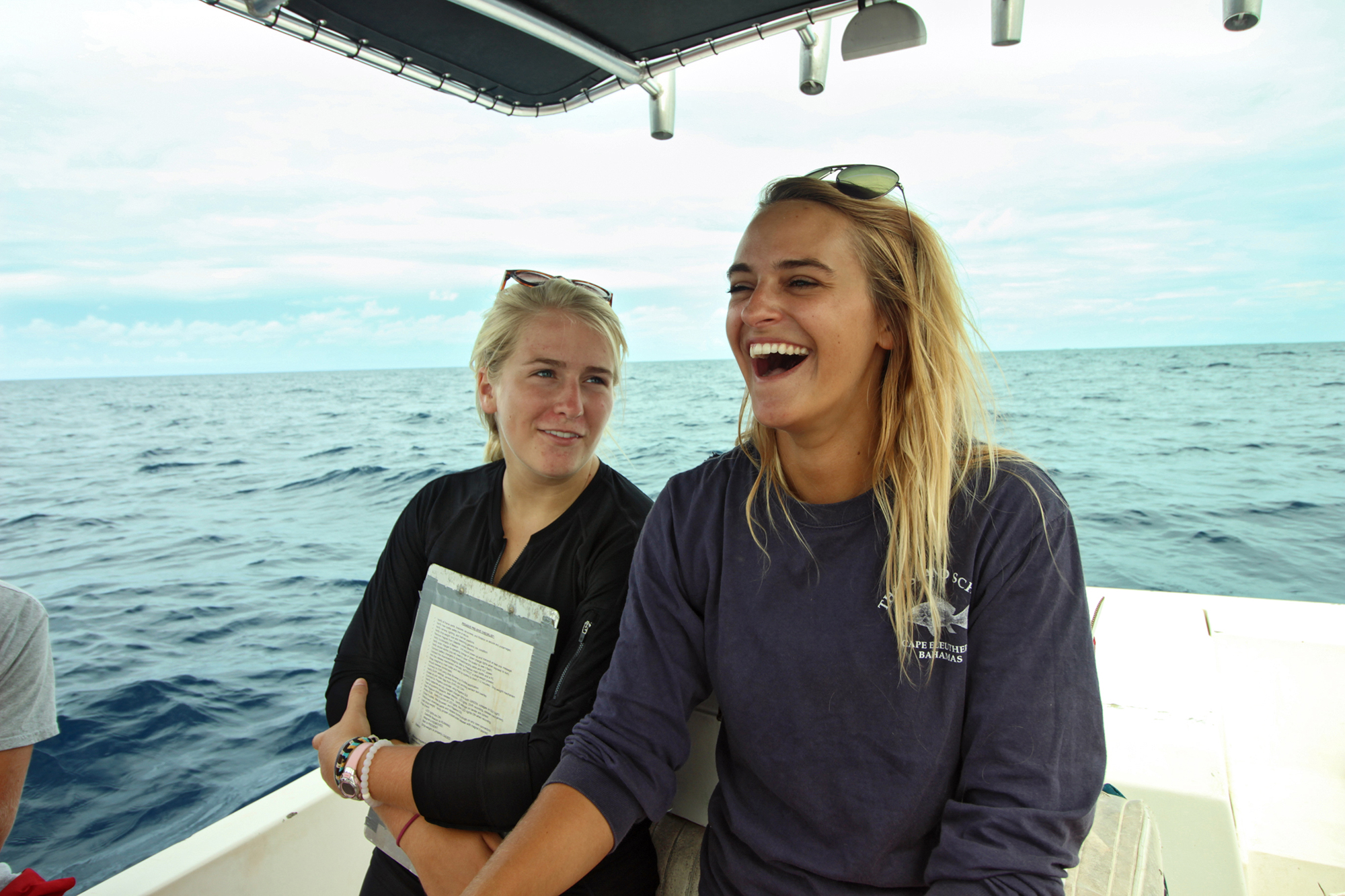 Mackey leads a deep sea trip with Island school students