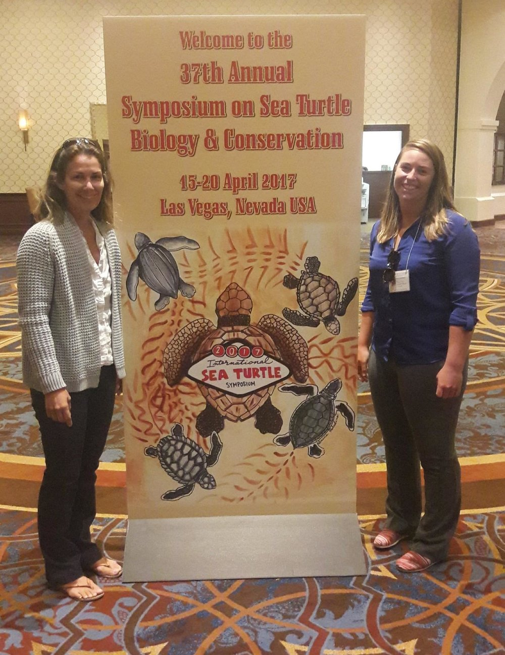 Annabelle Brooks and Meagan Gary at the 37th International Sea Turtle Symposium