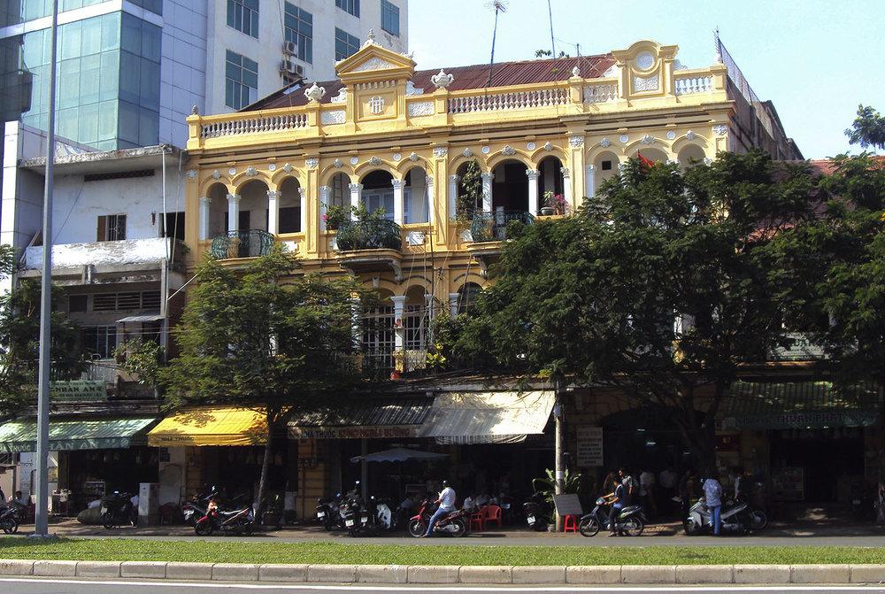Three-storey colonial shophouse at 43-49 Hải Thượng Lãn Ông, District 5