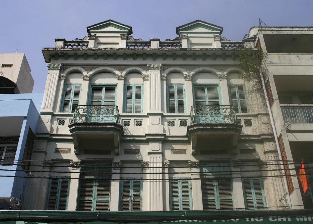 Three-storey colonial shophouse at 93-99 Lương Nhữ Học, District 5.