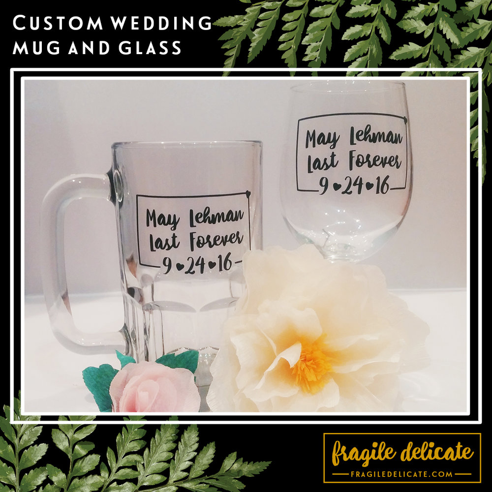 Fragile Delicate - Custom Beer Mug and Wine Glass