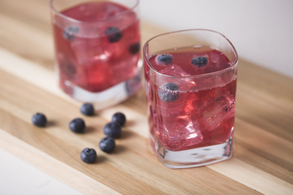 Tartly Blueberry Lemon Gin & Tonic