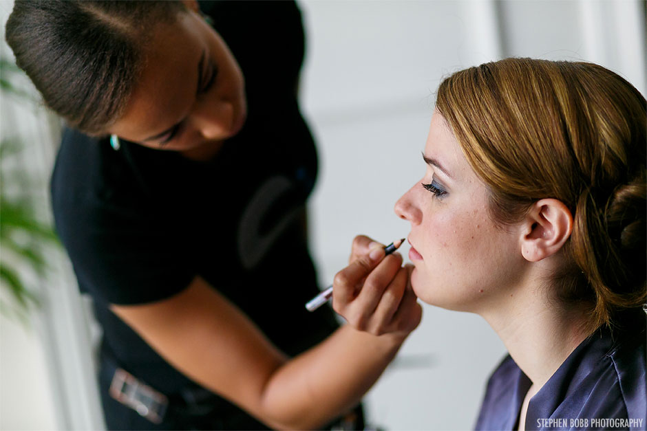 Working as a Silver Immersion makeup artist Image by Stephen Bobb