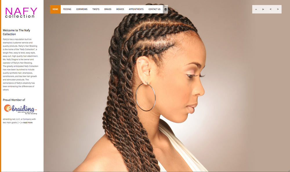 feature as a hair model on Nafy Collection braiding hair