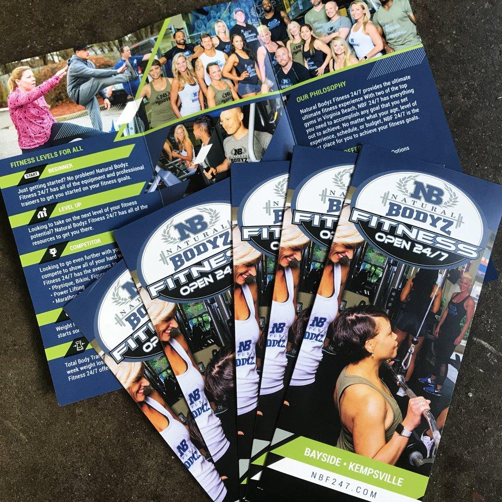 Natural Bodyz Fitness 24/7 Virginia Beach Gym Brochure