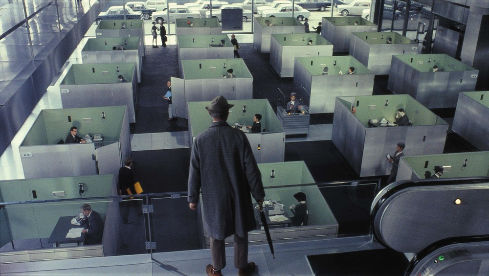Monsieur Hulot in Jacques Tati's  Playtime