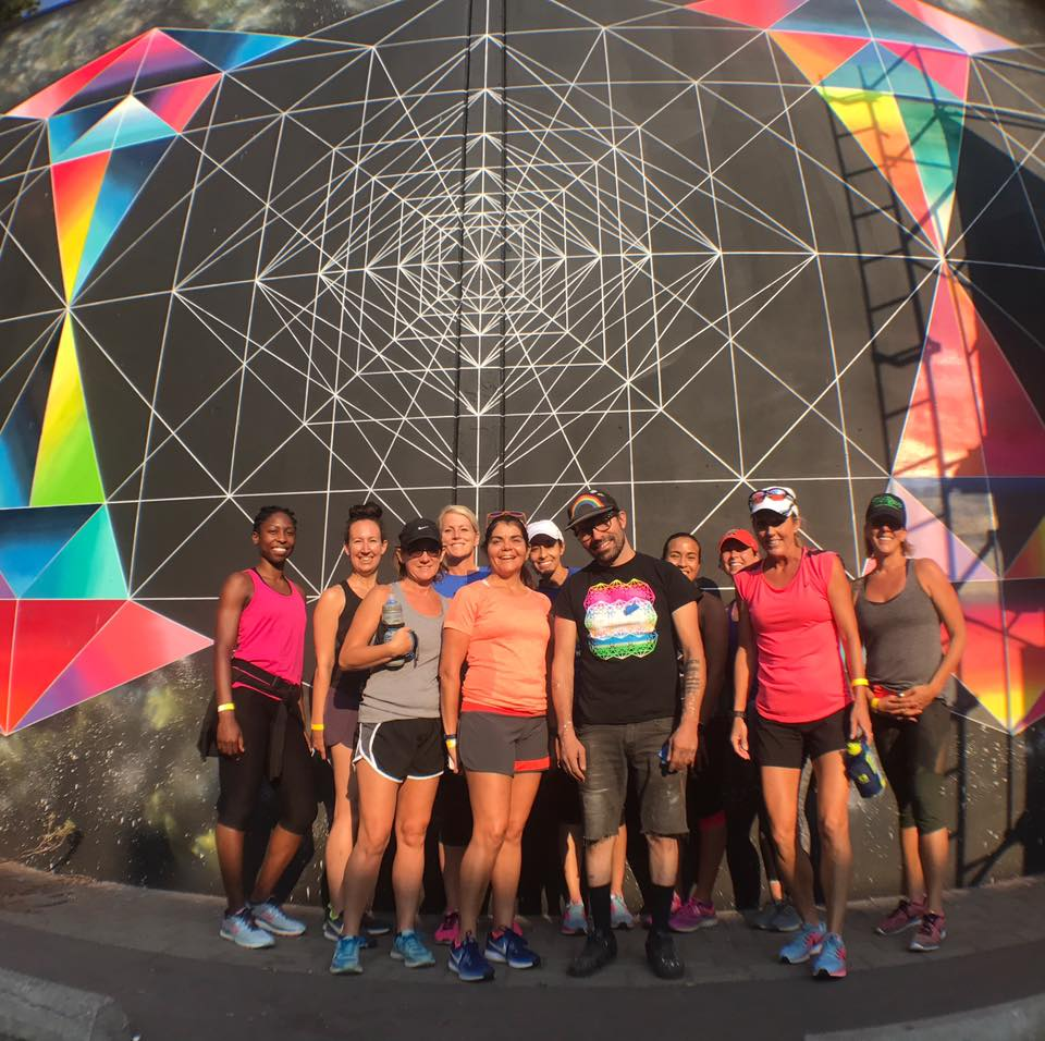Running Tours - The same route as our 5k walking tour (about 3 miles), but this time we run to each new mural location! Duration: approximately 1 to 1.5 hoursAverage pace: 11:00/minutes per mile