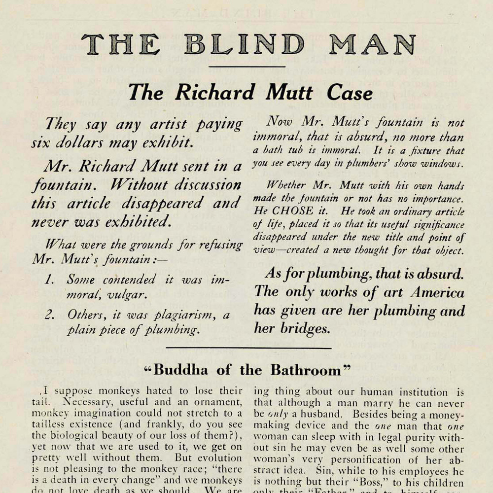 Blind Man Issue No. 2 page 5 courtesy University of Iowa Library