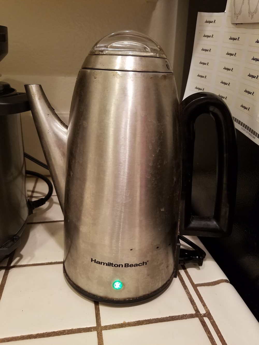 It's time for the percolator . . .