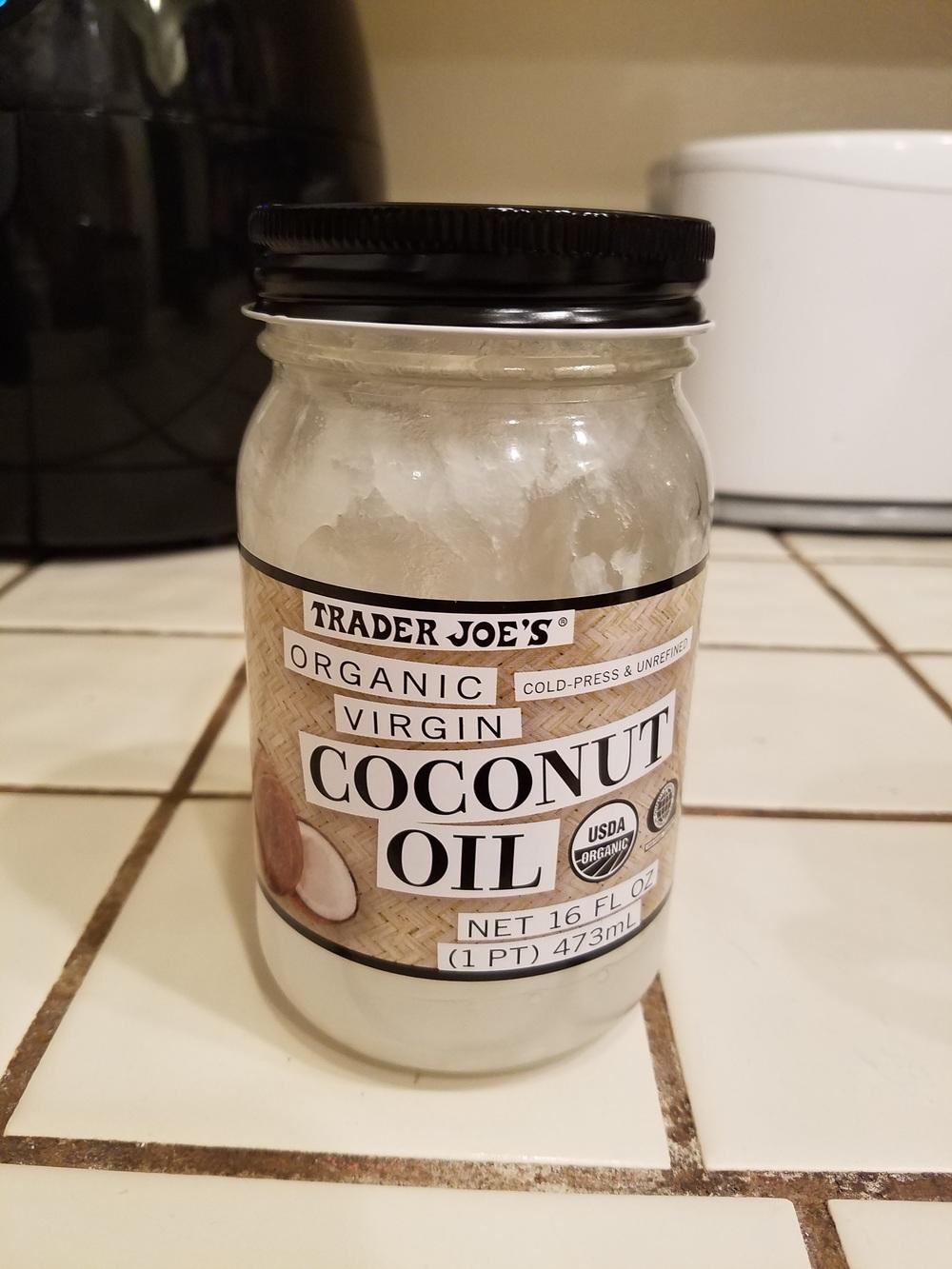 Coconut oil . . .