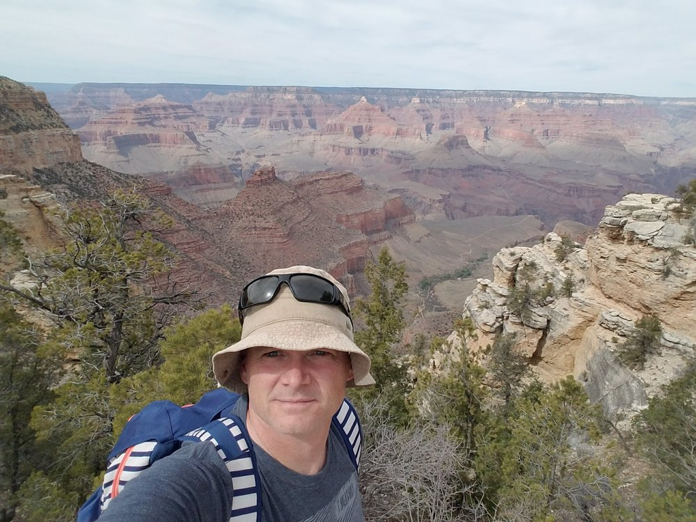 Portrait of the Editor at the North Rim of the Grand Canyon.