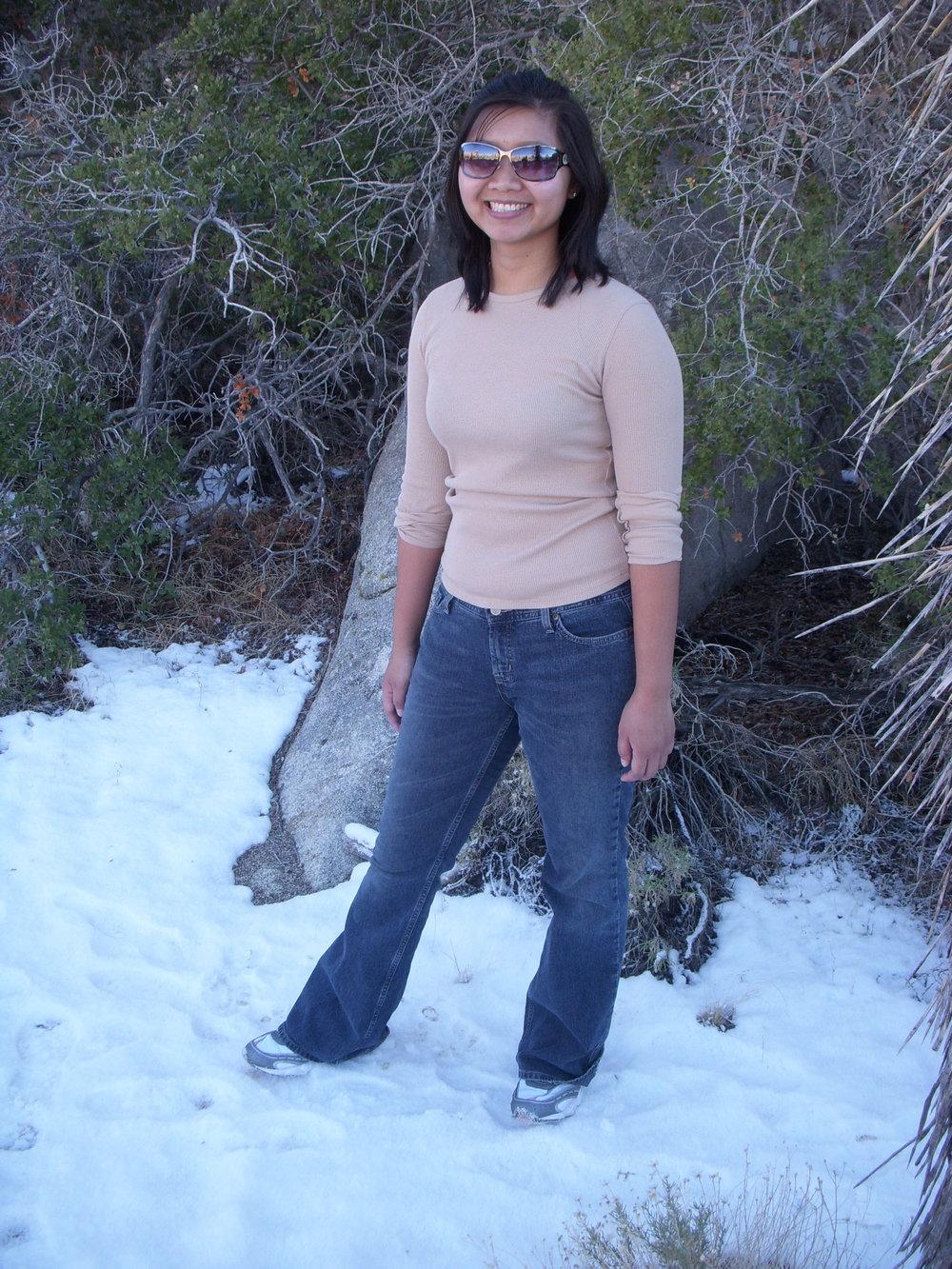 Mai in snow