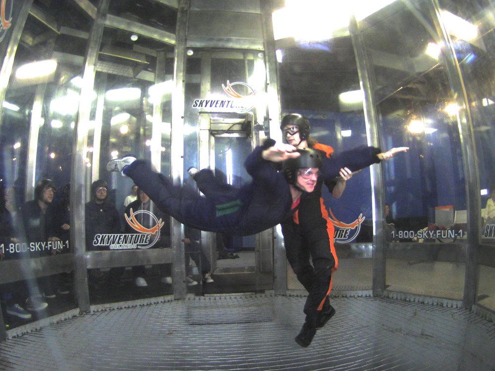 Ed flying