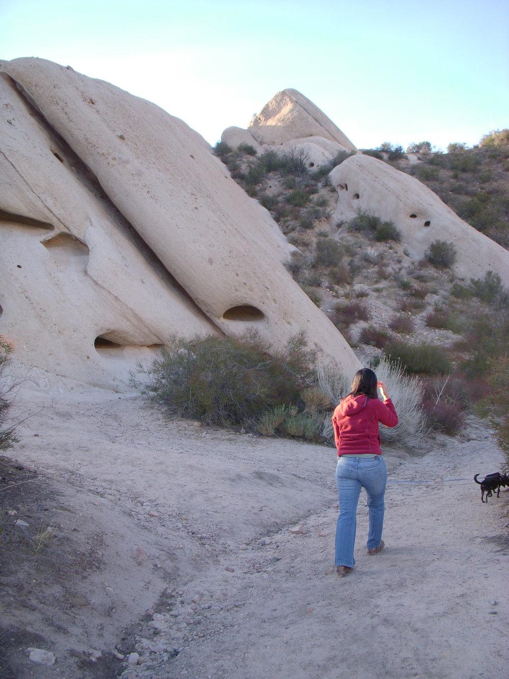 Mai on the trail