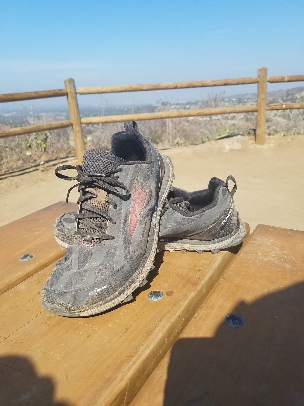 Portrait of the Altra Superior 3.5 after hitting the 200 mile mark.