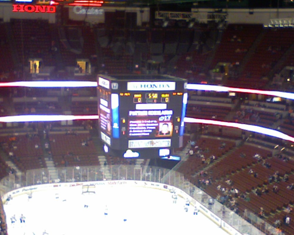 Above the scoreboard