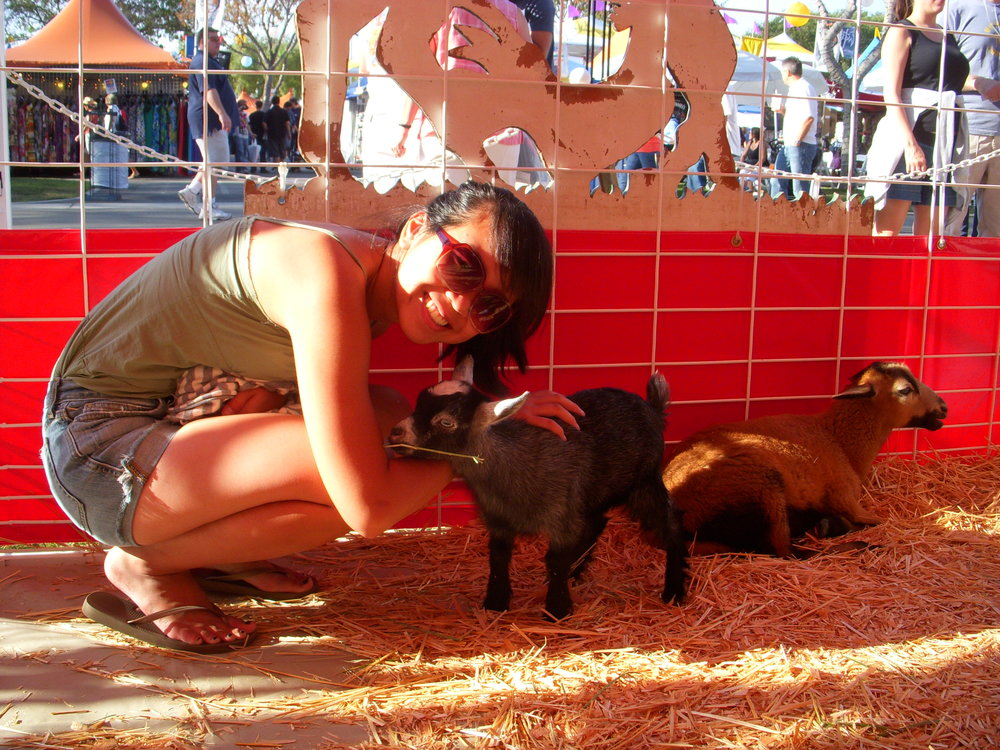 Christine and goat
