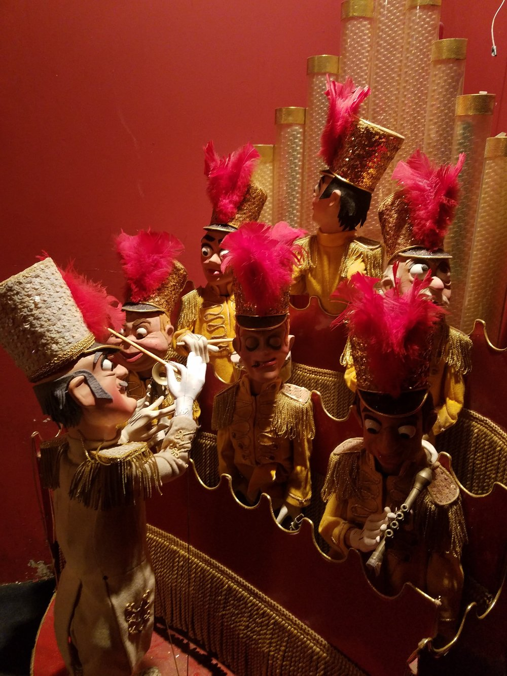 Over the course of his life, Bob Baker made several thousand puppets.  These ones were stored in one of the hallways.
