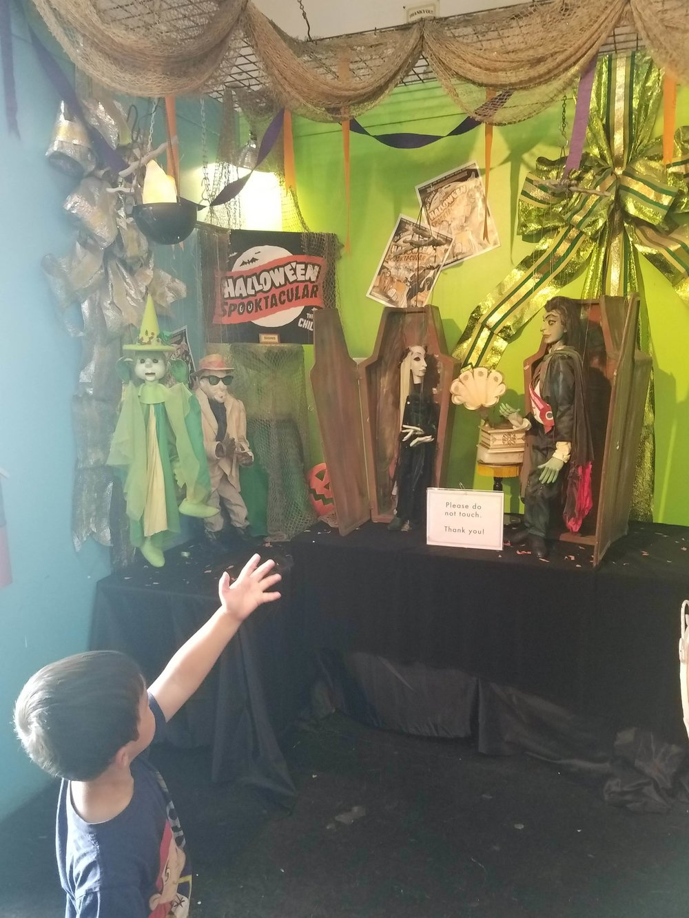 These puppets are set to perform at the Halloween Spooktacular.