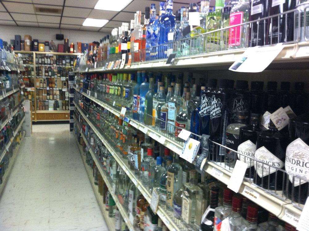 Wall of gin